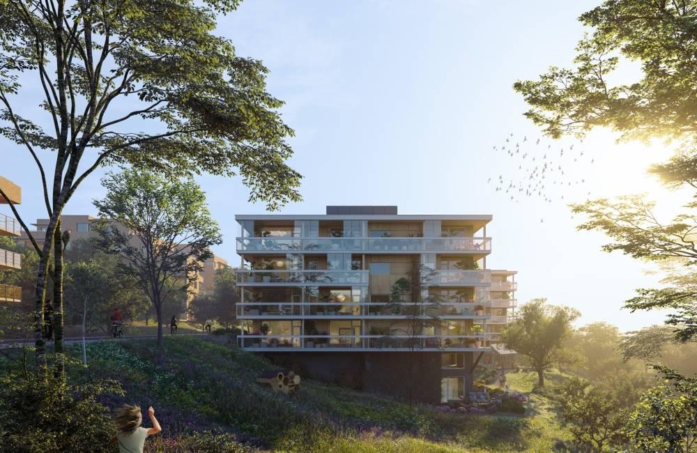 HRTB Arkitekter er arkitekten bak prosjektet på Høn Landås. Ill.: HRTB Arkitekter