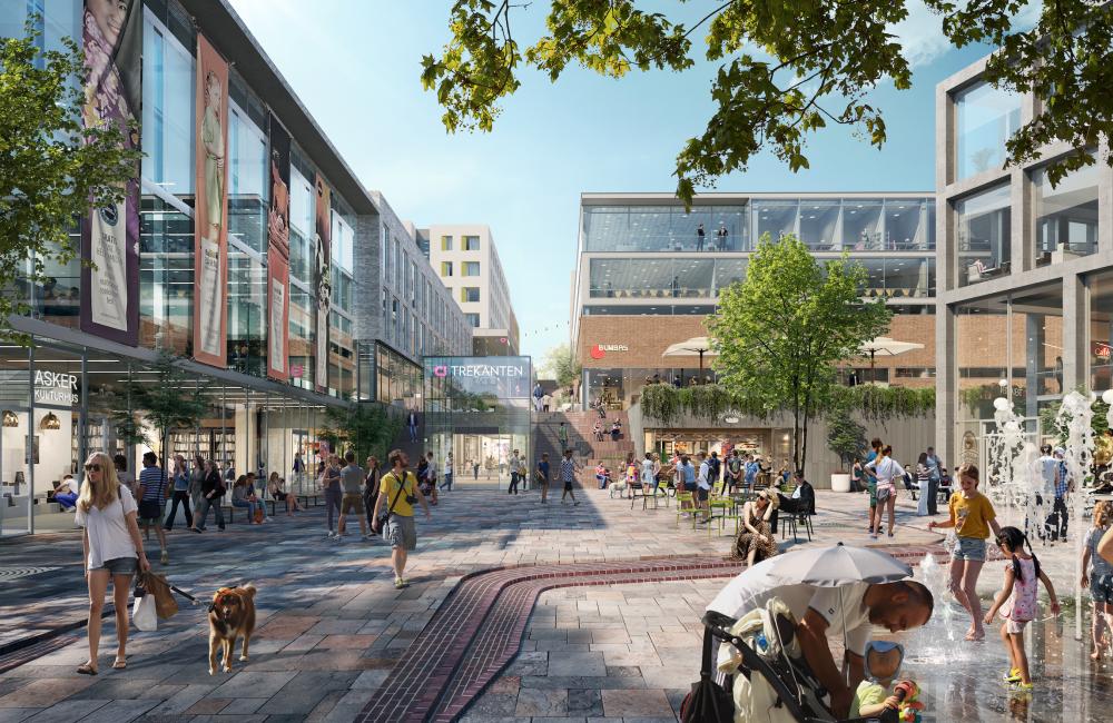 Citycon og FutureBuilt har inngått en intensjonsavtale med mål om å gjøre nye Trekanten til et forbildeprosjekt innen bærekraft.
