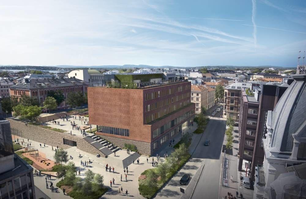 FutureBuilt-prosjektet Ruseløkka skole. Ill.: Arkitektkontoret GASA AS