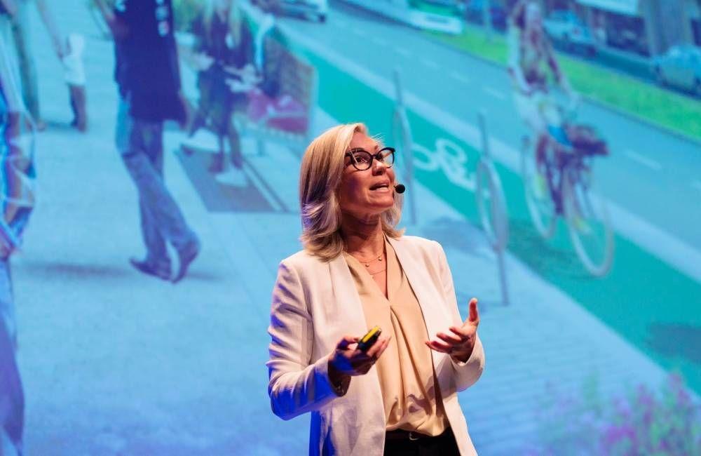 Den tidligere byplansjefen i Toronto, Jennifer Keesmaat, var en av foredragsholderne på FutureBuilt2018. Foto: Geir Anders Rybakken Ørslien