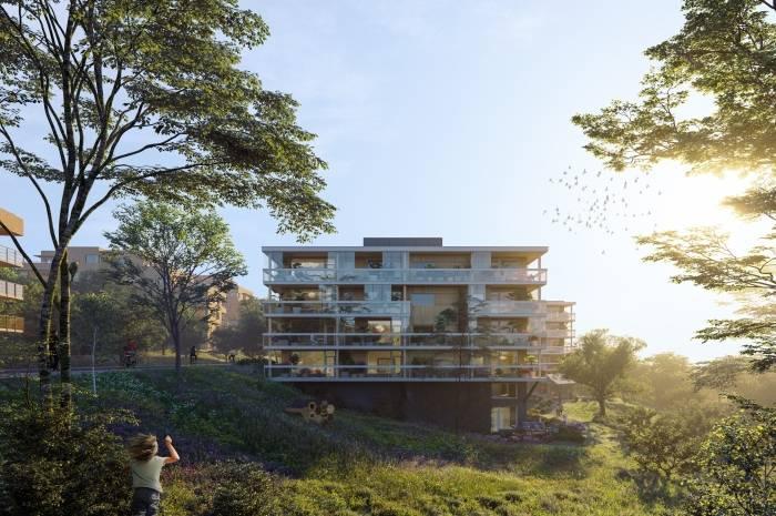 Landås felt 3 i Asker er et av prosjektene som fagrådgiver skal følge opp. Ill.: HRTB arkitekter