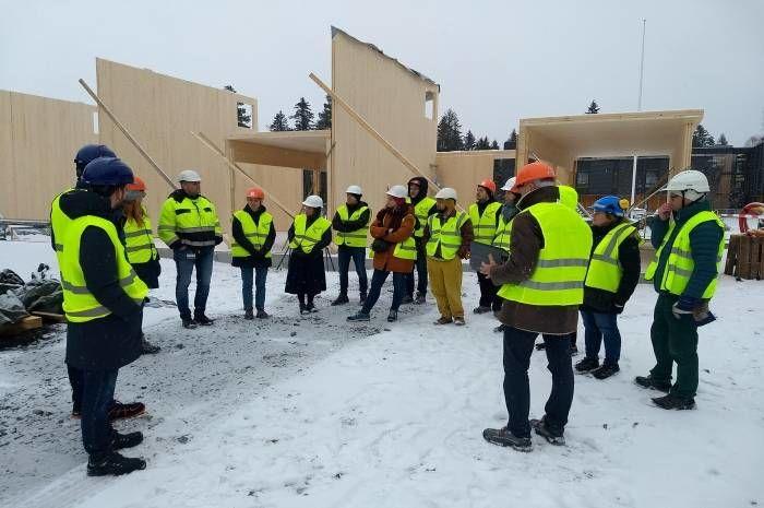 Boliger på Korpåsen - byggeplass tun
