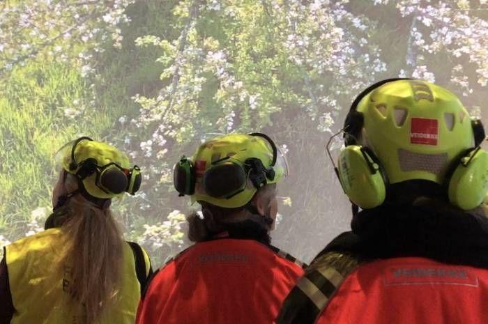 Bilde fra befaring Klimahuset i Botanisk hage.