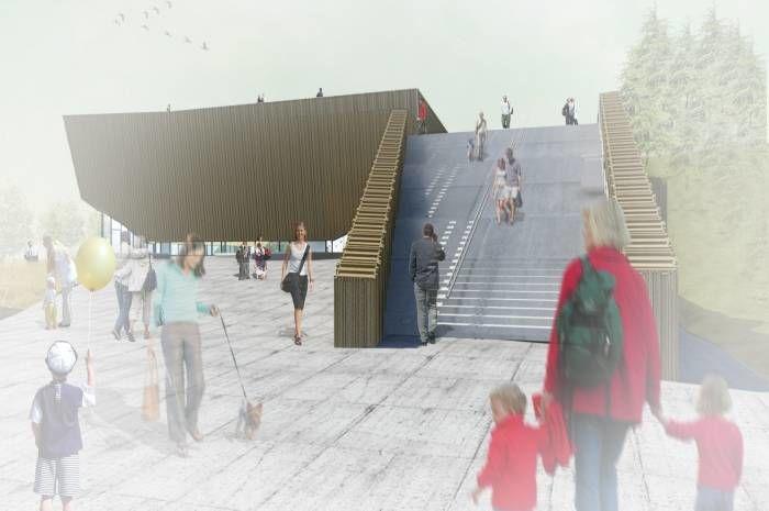 Nå kan du besøke Holmen svømmehall, en av Norges mest energieffektive svømmehaller. Ill.: Arkís arkitektar