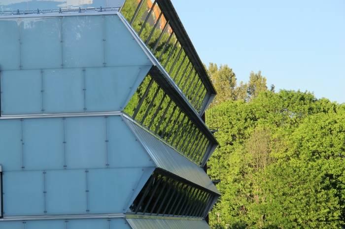 grønn fasade