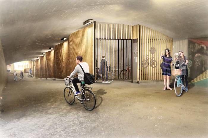 Kunngjøring av konkurranse for sykkelhotell Ryen og Grorud er nå på Doffin. Ill.:R+F+S Arkitekter, Spiss Arkitektur & Plan AS
