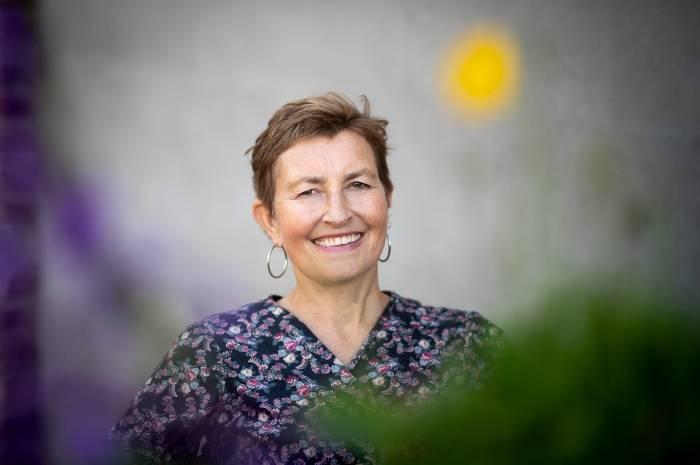 – Vi er veldig fornøyde med å være nevnt i statsbudsjettet, sier Birgit Rusten, daglig leder i FutureBuilt. Foto: Torbjørn Tandberg