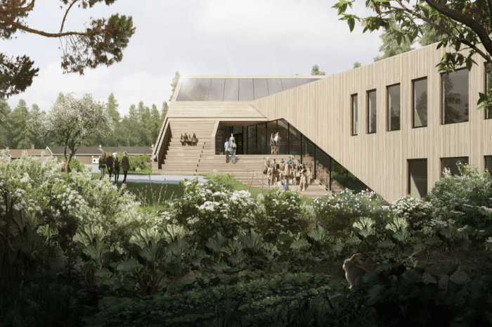 Drøbak Montessori Ungdomsskole. Arkitekt: Snøhetta. Ill.: Bloom