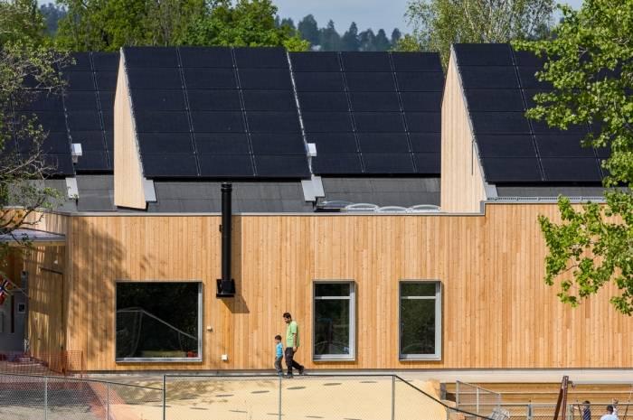 Kistefossdammen barnehage solceller
