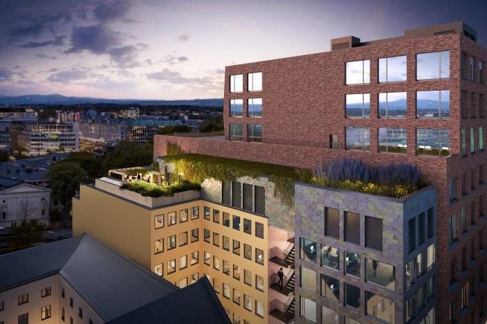 Sirkulære bygg og områder er tema for den første innovasjonsworkshopen. Ill.: Kristian Augusts gate 13. Utbygger: Entra ASA. Arkitekt og ill.: MAD Arkitekter