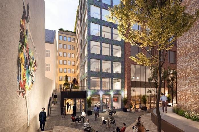 Blant prosjektene du får høre om på frokostmøtet er Norges mest ambisiøse ombruksbygg - Kristian Augusts gate 13. Ill.: MAD Arkitekter