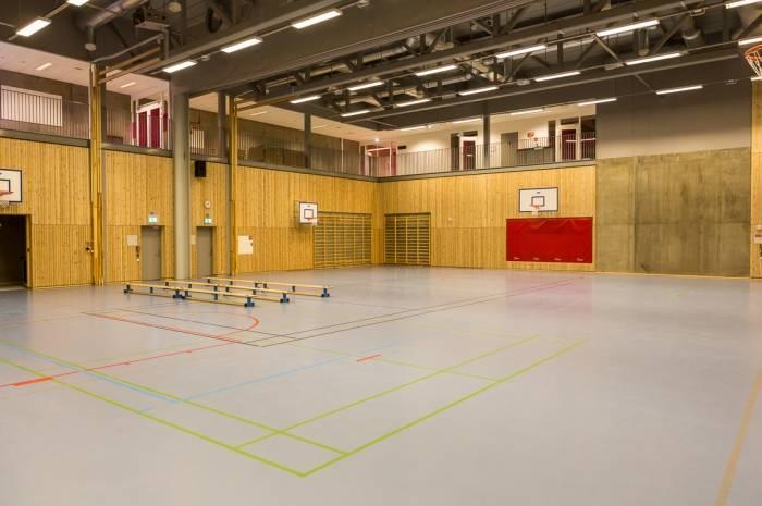 Bjørnsletta skole gymsal Fotograf Tove Lauluten
