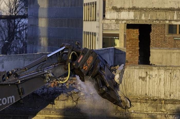 Riving i Regjerningskvartalet. Foto: Trond Isaksen/Statsbygg