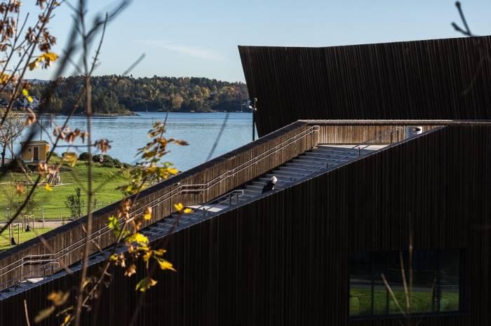 Holmen svømmehall - utsikt Foto Tove Lauluten