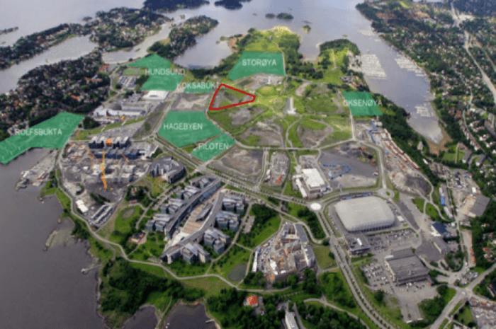 På 700 OBOS delområde 9.4 på Fornebu skal det komme 700 FutureBuilt-boliger.